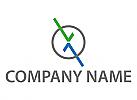 Kreis, Buchstabe, X, V, Logo