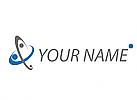 Kreise in blau und grau, Netzwerk, Logo