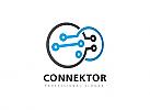 Ö, Zeichen, Verbindung, Daten, Internet, Kommunikation Logo, Pixel, Rechtecke, Beratung, Consulting