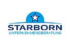 Zeichen, zweifarbig, Signet, Symbol, Stern, Horizont, Logo