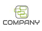 Zweifarbig, Rechteecke in grün und grau, Rechtecke Logo