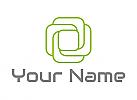 Zweifarbig, Viele Rechtecke in grün, Logo