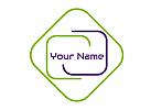 Zweifarbig, Rechtecke, APP, Software, Logo