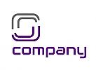 Zwei Rechtecke, Verbindungen, Netzwerk, Logo