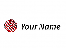 Zweifarbig, Kugel aus Sechsecken, Daten, Netzwerk, Logo