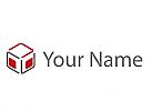Zweifarbig, Sechseck, Würfel, Rechtecke, Logo