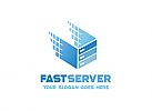 Ö, Würfel, Server, Hosting, Kubus, Perspektiv, Hexagon, Sechseck, 3D, Internet, schnell, Pixel Logo
