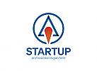 ö, Zeichen, Signet, Logo, Rocket, Rakete, Startup, Business, Space, Kosmos, Weltall, Universe Logo