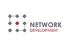 ö, Zeichen, zweifarbig, System, Netzwerk, Technik, Logo