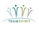 Zeichen, zweifarbig, Zeichnung, Menschen, Team, Human, Logo