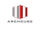 Zeichen, zweifarbig, Zeichnung, Konstruktion, Würfel, Technik, Bau, Logo