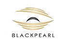 Zeichen, zweifarbig, Zeichnung, Muschel, Perle, Auster, Logo