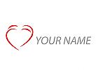 Zwei Herze Zusammen Logo