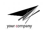 Logo Architektur Design Flug Pfeil Richtung Dienstleistung